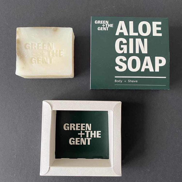 Green+ The Gent Aloe Gin Soap