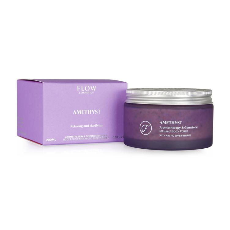 FLOW - Amethyst – Aromatherapy & Gemstone Body Polish
