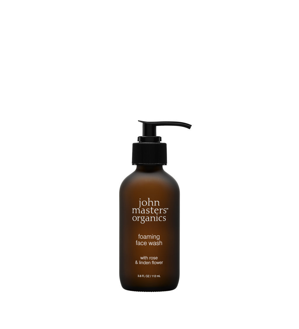 John Masters Organics Foaming Face Wash with rose & linden flower