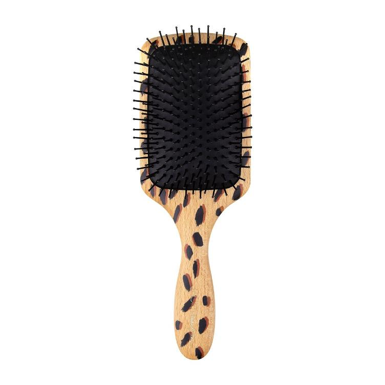 JACKS Beauty Line Large Wooden Paddle Brush - ANIMAL